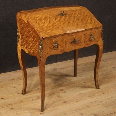 Fore Furniture Wooden Inlaid Antique Style Secretaire Desk Secretary Desk