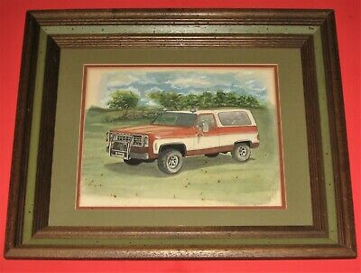 1973 Chevrolet Blazer - Water Color Painting - Beautiful Framed Art
