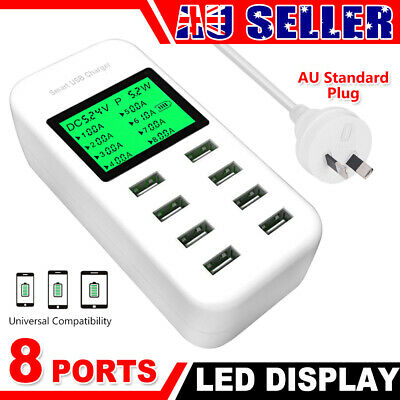8 Port Usb Charger charging station power adapter wall charger phone charger hub