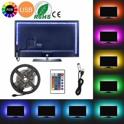 Bande LED Pour TV USB Ruban LED Strip Flexible RGB 5050 SMD 5V 20 couleurs
