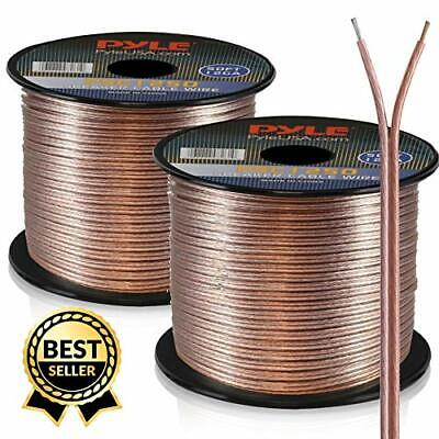 NEW 50 FT 18 GAUGE SPEAKER WIRE AUDIO CABLE CAR HOME BLUE FREE SHIPPING USA T2