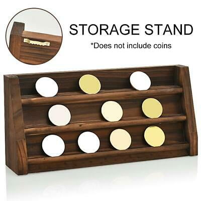 3-Layer Wooden Challenge Coins Display Rack Collectible Medals Holder Stand