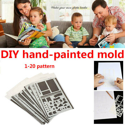 PP Stencils Scrapbooking Stamp Paper Card Drawing Sheets Embossing Templates