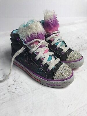 Sketchers Twinkle Toes Unicorn Light Up Limited Edition Sz 2 Girls Sneakers