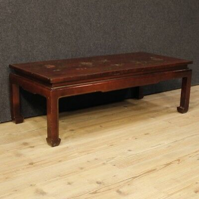 Table Lacquered Chinoiserie Furniture Low Living Room Wood Antique Style 900