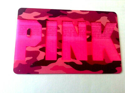 VICTORIA'S SECRET PINK on pink 2019 COLLECTIBLE Gift Card New No Value