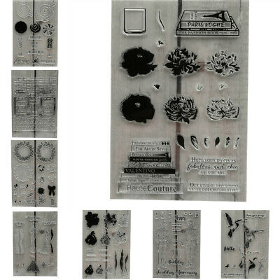 Silicone Clear Stamp Transparent Rubber Stamps DIY Scrapbooking Handmade Craft