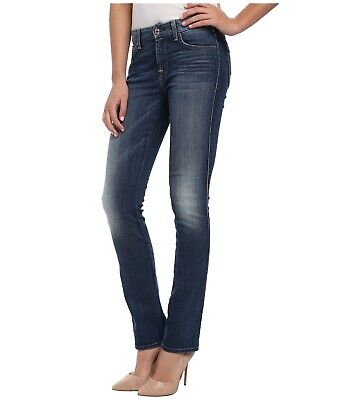Nwt $178 7 For All Mankind Slim Illusion Kimmie Straight Leg Jeans 28