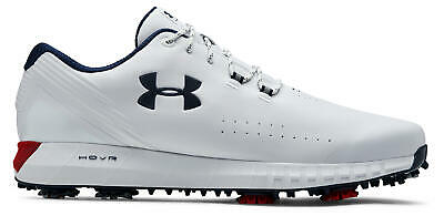 Under Armour UA Hovr Drive Golf Shoes 3022273-100 White/Red/Academy Men's New