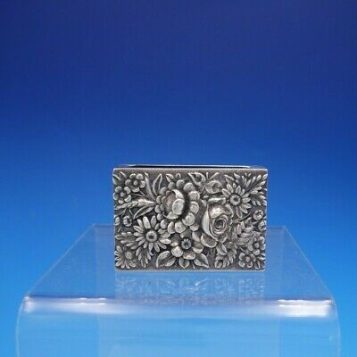 Repousse By S. Kirk & Son Sterling Silver Match Box Cover Marked #24 (#4120)