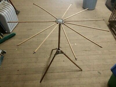Antique Artmoore Wooden Clothes Drying Rack, Standing Collapsible Umbrella Style