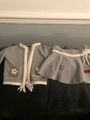 Girls Monnalisa Skirt And Jacket Set Age 18 Months