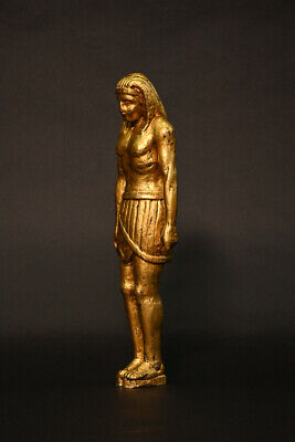 """Hand Carved """"Grand Tour"""" Egyptian Giltwood over cobalt figure. Early 19thC"""