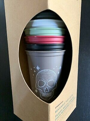 Starbucks 2019 Fall Halloween Reusable Hot Cup Set of 6 - Limited Edition RARE