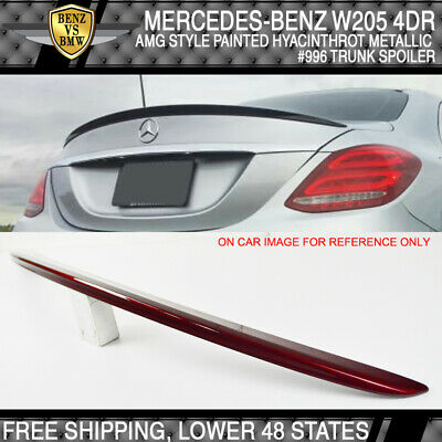 USA Stock 15-18 W205 4Dr AMG Style ABS Plastic Trunk Spoiler Painted Black # 040