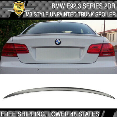 07-13 BMW 3 Series E93 2Dr Convertible M3 Style Unpainted ABS Trunk Spoiler