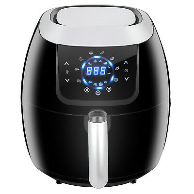 1800w Low-Fat Kitchen Deep Air Fryer Digital Touch Screen 6.5Qt 8 Cook Presets