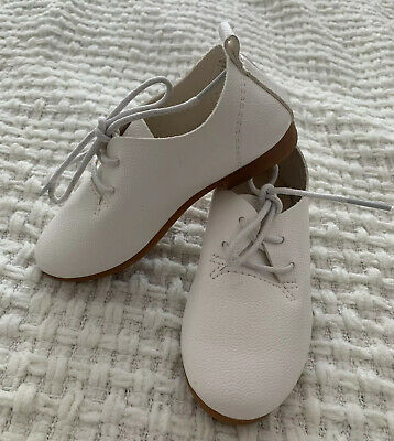 Brand New Kids Shoes White Short Boots Size 26 Leather Bootie RRP $60 Girl / Boy