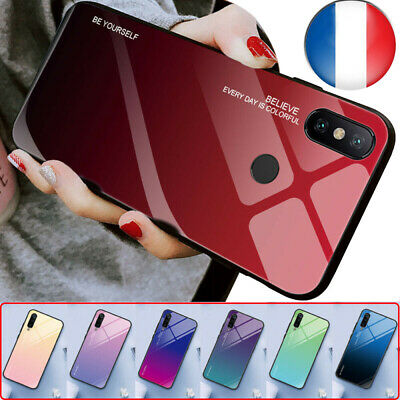 Case Gradient Tempered Glass Cover Skin For Xiaomi Redmi Mi9 Mi8 Pocophone F1