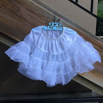 Lid'l Dolly Petticoat Slip Bouffant Ruffle Frilly Pageant Party Girls SZ 4 to 5