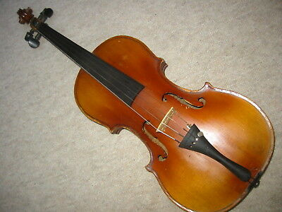 nicely flamed old   Violin violon with Stainer branding