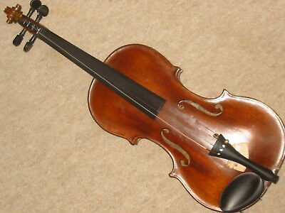 Beautifuly flamed old 4/4 Violin  violon 1 part back!