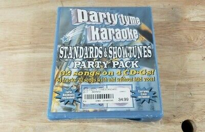 Party Tyme Karaoke - Standards & Show Tunes CD - 32 Songs Sealed