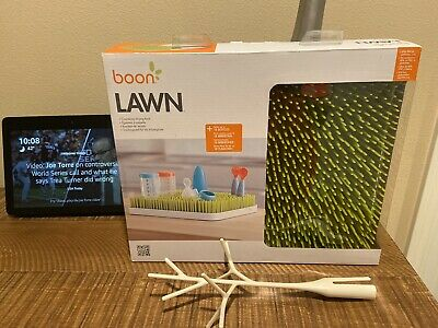 Boon B377 Lawn Countertop Drying Rack - Green With Twig (Open Box)