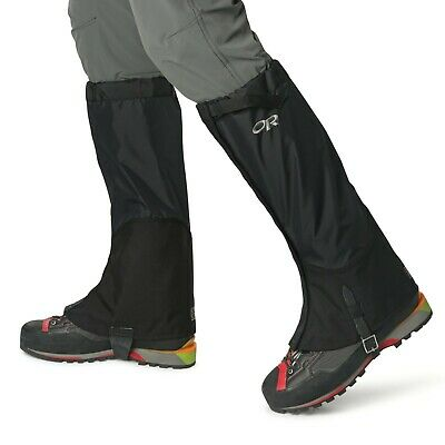 Outdoor Research Verglas Gaiters Black Pertex Waterproof Expedition Size S and M