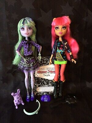 Monster High 13 Wishes Signature Howleen Wolf & Twyla With Diary & Accessories