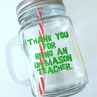 Teacher gift lolly jar decal DIY gift idea end of year christmas