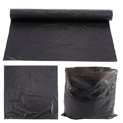 100 Heavy Duty Black Bin Liners/Sacks Rubbish/Thick/Bags/Refuse/Strong 7L
