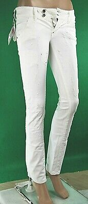 Jeans Donna Pantaloni MET Jeans Made in Italy Slim Fit C635 Bianco Tg 25