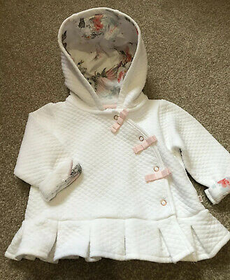 Ted Baker Baby Girl Age 0-3 Months Jacket Pegasus Rose Gold Bows Gc