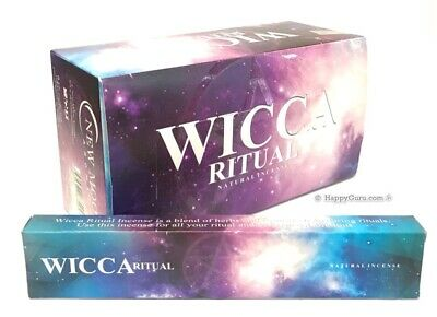'Wicca Ritual' New Moon Incense Sticks Premium Masala 180gm (15g x12) One Dozen