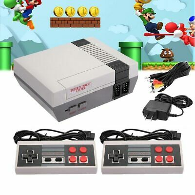 Retro Game Console 620 Built-in MINI Classic NES Games with 2 Controllers US