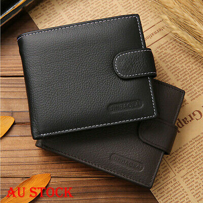 AU Stock Men's Leather Money Clip Slim Wallet ID Credit Card Holder Coin Purse