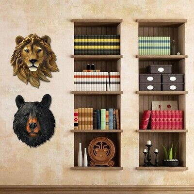 Mounted Wall Ornament Synthetic Resin 3D Animal Head Restaurant Decoration Cafe