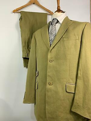 Mens Ted Baker Endurance Green 2 Pc Smart Formal Suit Jacket 42R Trousers 36R