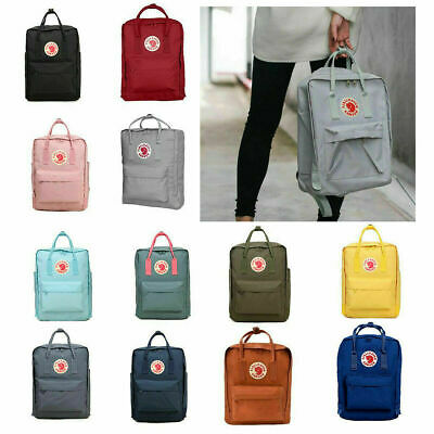 20L/16L/7L Fjallraven Kanken Canvas Backpack Sport Arrival Handbag Mini/Classic#