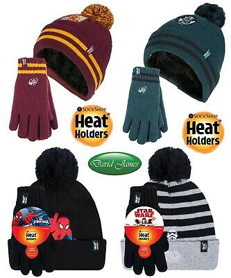 Kids Boys Girls Heat Holders Tog Thermal Winter Warm Trapper Hat 5-10 Years