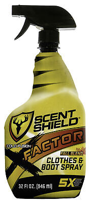 ScentBlocker X-Factor Clothes and Boot Spray FALL BLEND, Odor Control, 4X Fac...