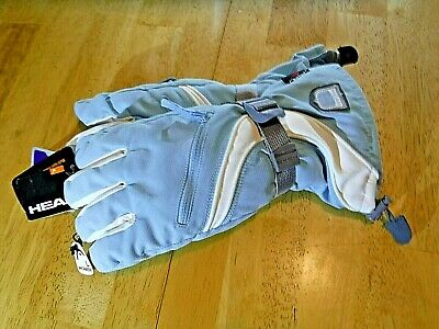 Head Outlast Womens Ski Gloves Waterproof Insulated Light Blue NWT Size Large