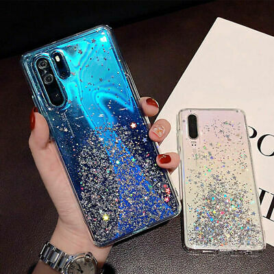 Case For Huawei P30 Pro Mate 20 P20 Lite Glitter Silicone Shockproof Clear Cover