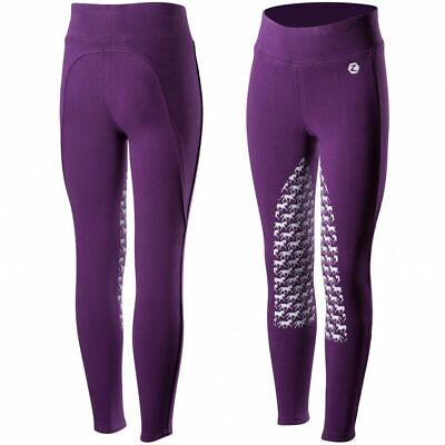 Horze Active Children's Silicone Horse Grip Riding Tights with Mid-Rise Waist