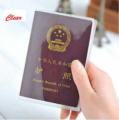 Passport Cover Organizer Case Card Holder Travel Transparent Protector ID Clear