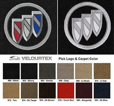 Lloyd Mats Velourtex Buick Encore Shield Logo Front Floor Mats (2013-2019)