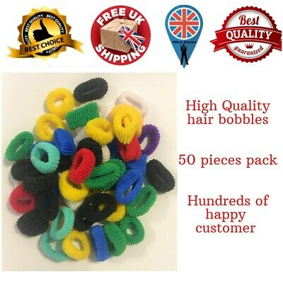 Assorted Colours Girls Baby Toddler Kids Elastic Hair Band Pack Bobbles Uk Stok