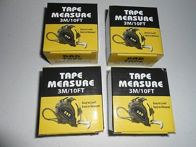 Measure 10ft // 3m | Tape Measure pack of 12 Pretty Useful Tools assorted