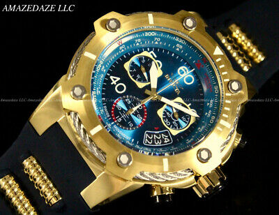 NEW Invicta Men 50mm Bolt Swiss Ronda Z60 Chronograph 18K GP Stainless St Watch